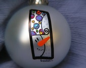 Snowman.....Whimsical Hand Painted Ornament