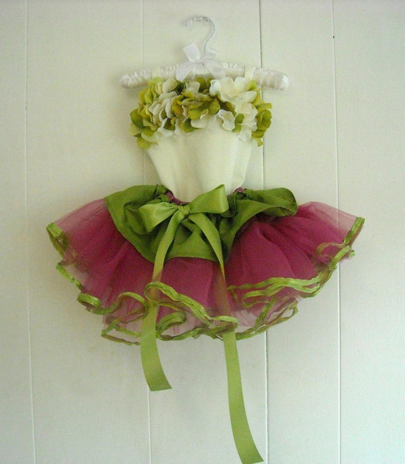 Hydrangea Handmade Leotard and Deluxe Tutu Set, Any Colors- Your Custom Design, Made to Measurements