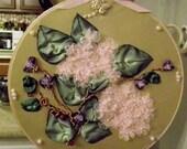 RibbonFlowers Gallery- Hydrangea, Sweetpeas and ladybugs