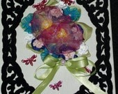 RibbonFlower Gallery- Bouquet wall plaque