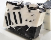 SALE MARKED DOWN Decorative Gift Soap Black and White  - only one left