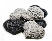 Licorice Soap Victorian Hearts  - Set of Six