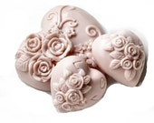 Decorative Gift Valentine Soap Love Hearts in Dusty Rose