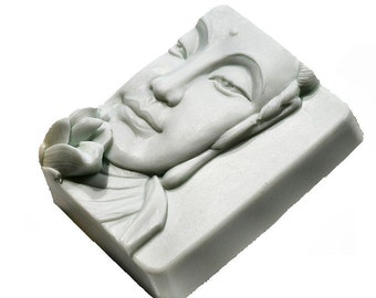 Buddha Face Soap With Lotus - Decorative Gift Soap