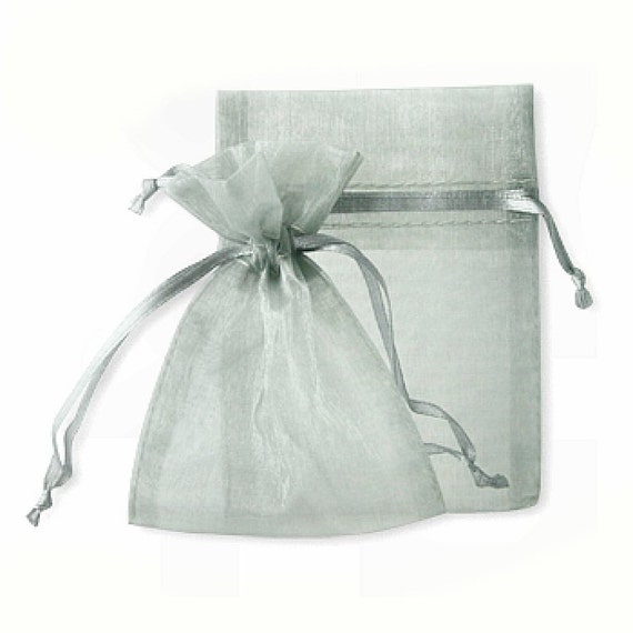 Drawstring Organza Bag 2 x 3 Jewelry Gift Wrap, 10 in a package - pink gold white