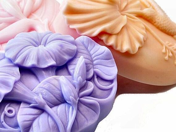 Decorative Soap Set Pastel Florals Collection