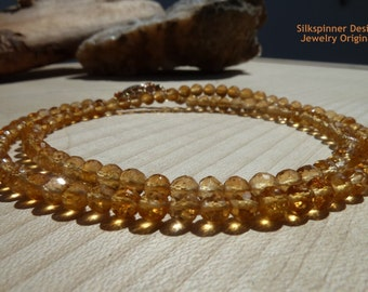 Honey Citrine Necklace/ Halskette aus Honig-farbigem Citrin