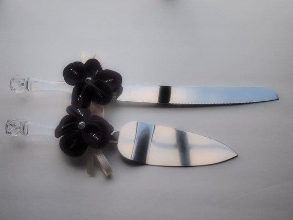 black wedding cake serving set cake server knife set black wedding 11883