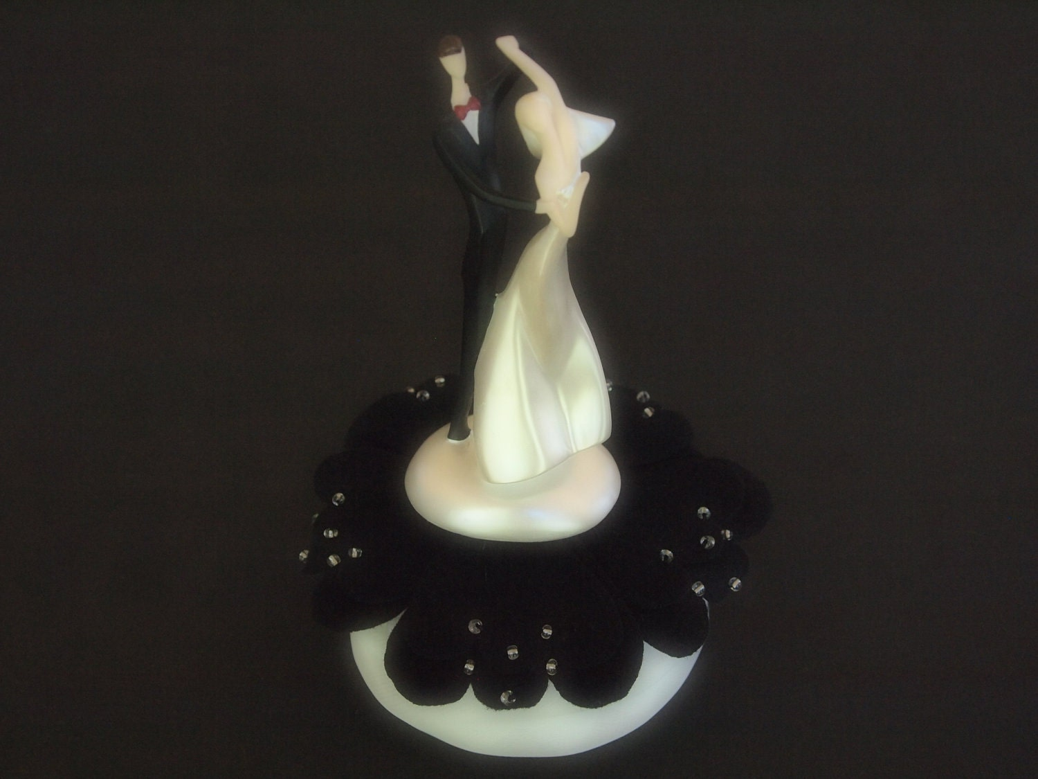 Wedding Cake Topper Black Bride and Groom Caucasian or African