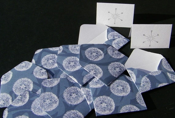 Just Dandy Memokins set of 10 tiny cards and envelopes