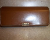 Vintage Valentino eyeglass case holder tan