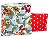 Reusable Sandwich Bag & Snack Bag Set ... Polka Dot Berries Reusable Bag Set