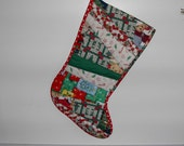 on sale, quilted christmas stocking, now half price