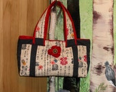 quilted oriental fabric purse