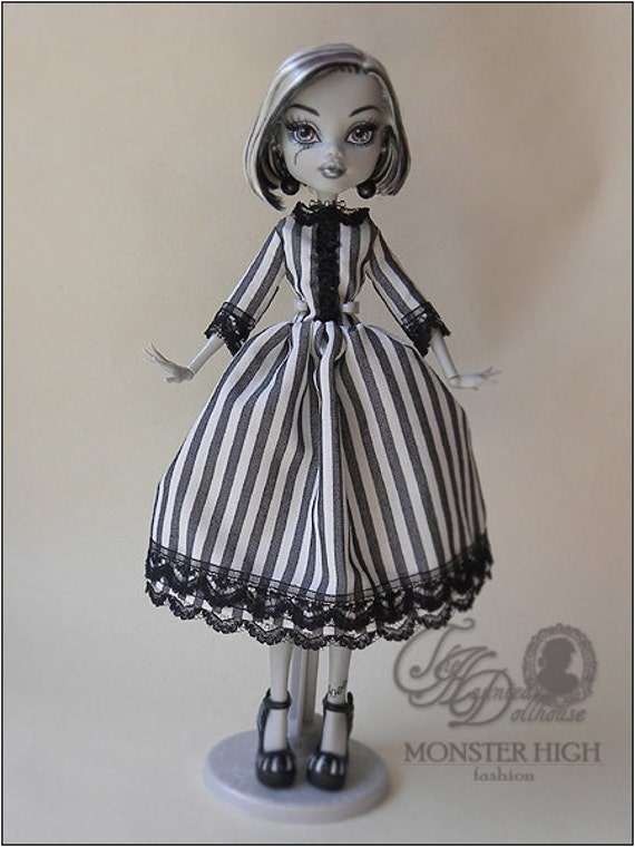 SPECIAL PRICE Monster High Custom Black and White Dress