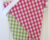 Bunting/Fabric Flag Banner, Girl Bedroom/Playroom/Nursery/Party/Baby Shower
