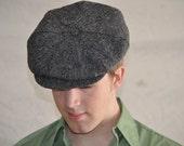 Vintage Newsboy Cap. Men's Wool Hat/ Cap