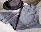 Men's Gray Trousers. Vintage Gray Men's Dress Pants. 36