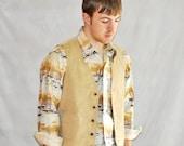 Lee Corduroy Vest. Vintage Men's Woman's Retro Rockabilly Boho Hipster Vest 1970's