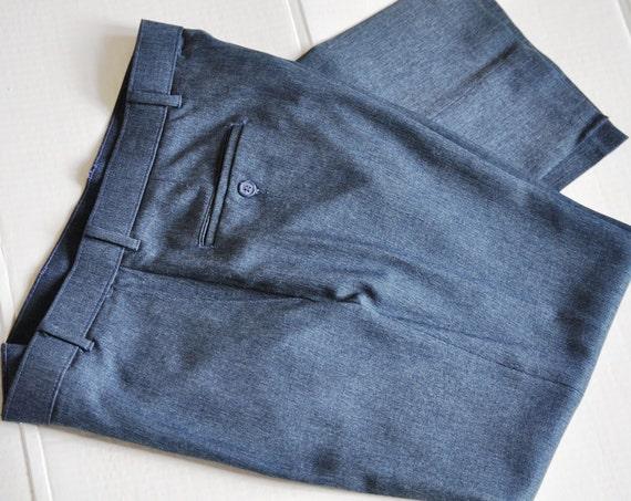 Vintage Levi's Pants. Men's LIght Denim Blue Action Slacks Trousers. 36-32. Eveteam