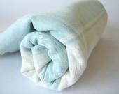 Traditional Turkish Towel, Handwoven Kilim Peshtemal, Natural Soft Cotton Bath, Spa,  Beach Towel, Light Blue