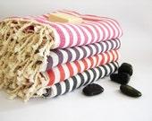 Turkish Towel,  Peshtemal, Bath, Beach, Spa, yoga, Coral orange