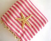 High quality Turkish Towel: Peshtemal, Bath, Beach, Spa Towel, Pink
