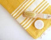 Elegant Turkish Towel, Peshtemal, Bath towel, Beach Towel, Natural Soft Cotton, Dark Yellow