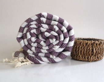 SALE 25% OFF Turkish Bath Towel: Peshtemal, Light and Thin Bath, Beach, Spa Towel, Dark Purple