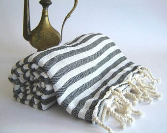 Turkish Bath Towel: Handwoven Peshtemal, Bath, Beach, Spa Towel, various colors