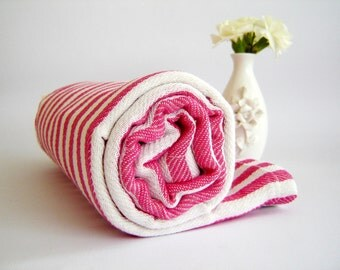 High quality Turkish Towel: Peshtemal, Bath, Beach, Spa Towel, Pink,, , mom, summer coverups, bridesmaid, valentine's day