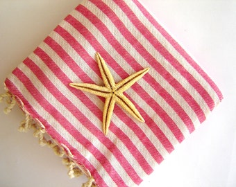 SALE 25% OFF High quality Turkish Towel: Peshtemal, Bath, Beach, Spa Towel, Pink, spring, easter, Mother's day gift