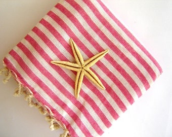 High quality Turkish Towel: Peshtemal, Bath, Beach, Spa Towel, Pink,, spring, easter