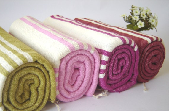 High quality Turkish Towel, Natural Soft Cotton, Bath and Beach Towel , Turkish Peshtemal, Fuchsia