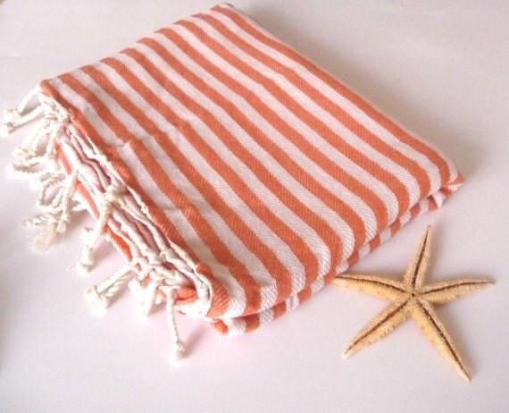 Turkish Towel,  Peshtemal, Bath, Beach, Spa, yoga, Coral