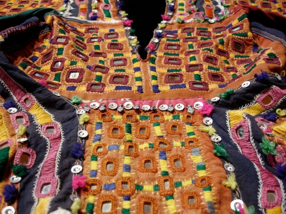 Banjara choli backless hand embroidered  top for Tribal fusion belly dance