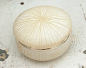 Alabaster Box - Hand Carved Stone with Hinged Lid