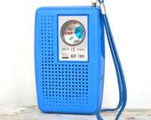 RESERVED for Fabio - Retro Pocket Radio - Groovy Blue 1960s