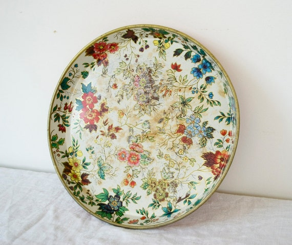 Colorful Floral Metal Tray - Designed by Daher, Long Island, NY