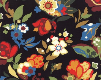Fabric Rooftop Garden by Moda Fabrics color Licorice 32431 11 - quilting fabric - cotton fabric