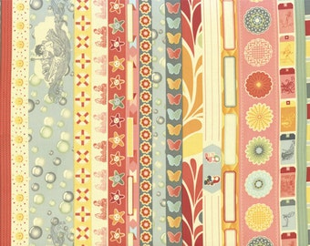 Salt Air Summer Borders by Cosmo Cricket 37021 11 Summer - quilting fabric - cotton fabric