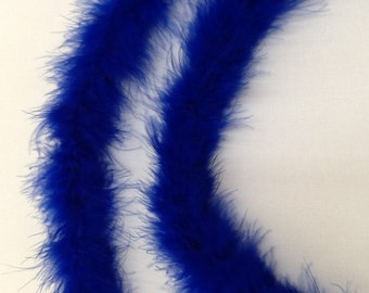 Marabou Boa 2 yards long - Royal Blue