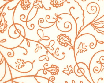 Chrysalis Vines by Sanae in Cream Orange 32423 26 - quilting fabric - cotton fabric