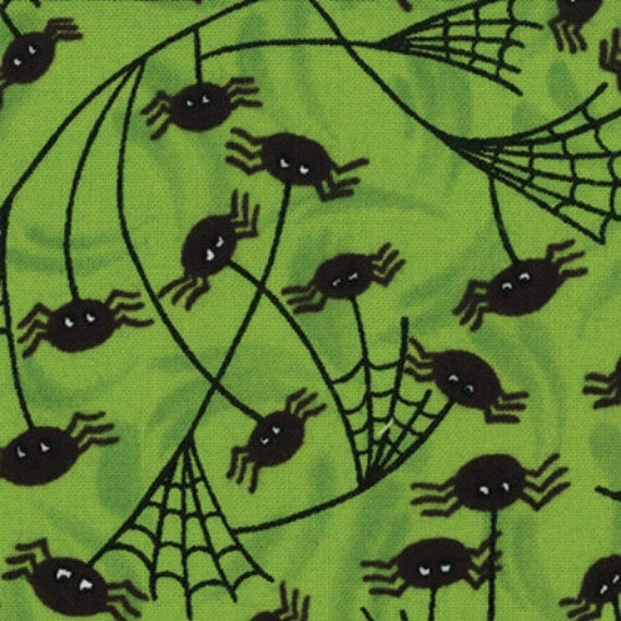 Fabric Trick or Treat by Deb Strain for Moda Fabric Moss Green 19473 13 - quilting fabric - cotton fabric