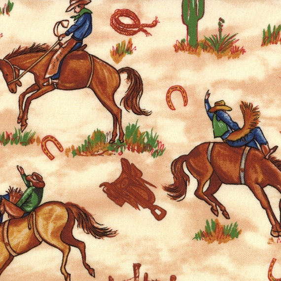 Fabric King of the Ranch by Sara Khammash for Moda Fabrics in Cream 11211 14 - quilting fabric - cotton fabric