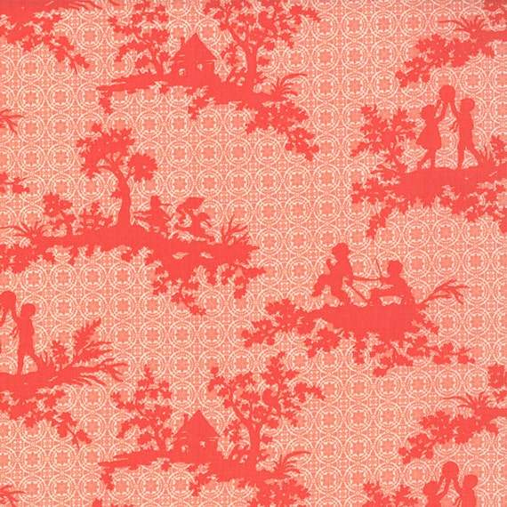 California Girl by Fig Tree Quilts color Coral 20181 12 - quilting fabric - cotton fabric