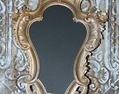 Ornate CHALKBOARD Resin Oval Frame Gold - Silver - Wedding Sign