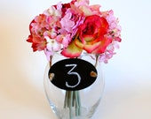 Oval Chalk Board Labels  (Set of 10 Ready to Ship) For Table Numbers,  Candy Bar, Buffet Table, Etc