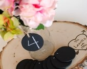 Round Chalk Board Tags (Set of 10) For Table Numbers,  Candy Bar, Buffet Table, Etc. Ships Quickly.