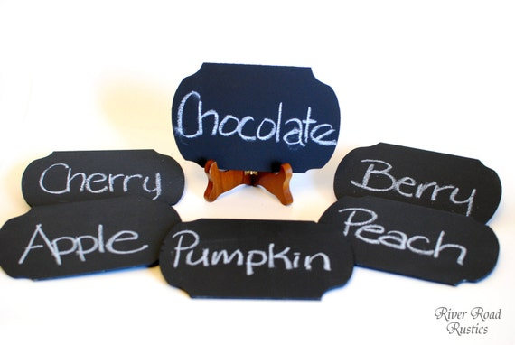 Chalkboard Signs (Set of 6 Ready to Ship) Rustic, Country, Eco-Chic Wedding, Shower, Party, Table Numbers, Buffet, Candy Bar, Etc-